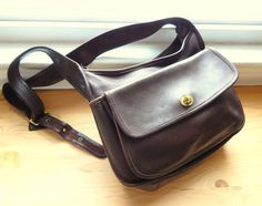 Vintage Dark Brown Coach Shoulder Bag by VintageZipper on Etsy