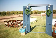 doors to an outdoor ceremony | Diana Marie Photography #wedding