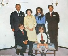The Queen and Prince Philip with children Charles, then Anne, Andrew, and Edward, seven Princess Diana Wedding, Princess Diana Death, Princess Anne, Royal Families Of Europe, British Royal Families, Old Prince, Young Prince, Elizabeth Philip, Queen Elizabeth Ii