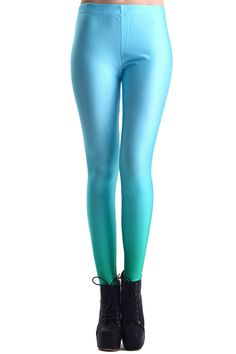 Mint Dip Dye Print Leggings. Description These Leggings have been crafted from elastic fabric design, featuring mint dip dye design, a stretchy waist and all in a soft-touch stretch finish. Fabric Dacron and Spandex. Washing 40 degree machine wash , low iron. #Romwe