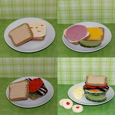 Crochet Pattern Crochet Food Let's Do Lunch by Yarnington on Etsy, $3.50