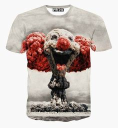 Newest style cute mushroom cloud clown print 3d t shirt men/women harajuku swag funny t shirts summer casual tee tops camisetas-in T-Shirts from Men's Clothing & Accessories on Aliexpress.com   Alibaba Group