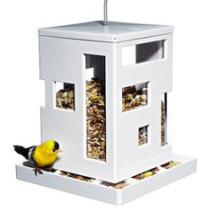 Modern Gift: Bird House            Feathered friends will surely flock to this uber cool Bird Café Feeder that doubles as outdoor decor. $25; umbra.com