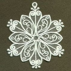 Organza Decorative Snowflake 2 - 4x4   What's New   Machine Embroidery Designs   SWAKembroidery.com Ace Points Embroidery