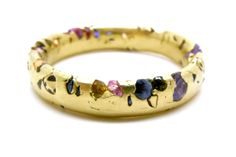 Polly Wales- Eroded Rainbow Sapphire Crystal Ring