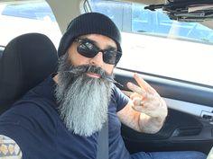 Grey Beards, Long Beards, Long Beard Styles, Hair And Beard Styles, Barba Grande, Beard Pictures, Beard Cuts, Car Selfies, Beard Haircut