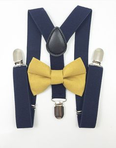 35421f3fb7fd Ring Bearers Navy Blue Suspenders, Leather Suspenders, Bowtie And  Suspenders, Family Christmas Pictures