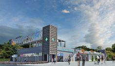 Nowy dwukondygnacyjny obiekt handlowy z parkingiem na dachu - Gdańsk Przymorze róg Chłopskiej i Czerwonego Dworu - IV kwartał 2016