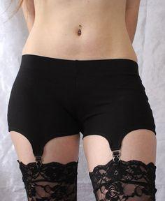 Strumpfband-Shorts - bequeme Baumwolle Garter Belt Alternative