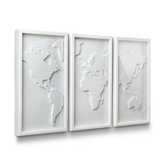 Shop Umbra LTD Umbra Mapster Wall Decor (Set of at Lowe's Canada. Find our selection of wall art at the lowest price guaranteed with price match + off. Gold Wall Decor, Wall Decor Set, Metal Wall Decor, Wall Art Sets, Dot And Bo, Frames On Wall, Framed Wall Art, Wall Décor, Wall Tiles