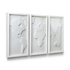 Modern Map Triptych