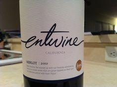 Wine label typography