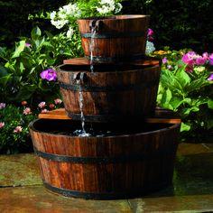 Superbe Ubbink Fontaine de jardin 3 Tonneaux en cascade neuf