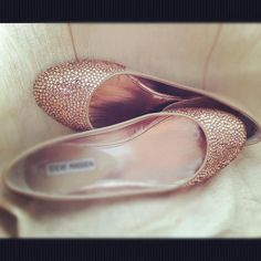 Champagne wedding shoes ballet flats by AngelesqueStilettos, $350.00