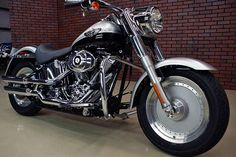 Great 2003 Harley Davidson FLSTFI 100th Anniversary Softail Fatboy Motorcycle picture