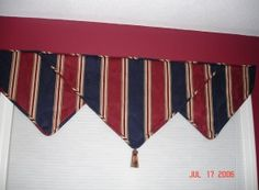 Triangle valance for man's office