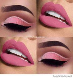 Cute eye make up – www.guugle… Cute eye make up – www. Eye Makeup Blue, Eye Makeup Steps, Pink Makeup, Cute Makeup, Gorgeous Makeup, Pretty Makeup, Hair Makeup, Edgy Makeup, Barbie Makeup