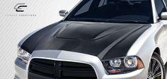 2011-2014 Dodge Charger Carbon Creations SRT Look Hood - 1 Piece