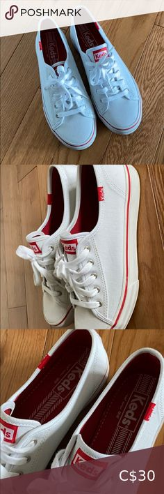 Ladies white Keds Ladies white Keds Size 6.5 Great used condition - worn only twice Minimal flaws, some tiny marks on canvas Keds Shoes Sneakers Keds Sneakers, Floral Sneakers, Floral Shoes, Keds Shoes, Blue Sneakers, Classic Sneakers, Black Keds, White Keds, Leather Keds