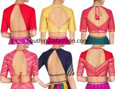 Back Neck Designs For High Neck Saree Blouses – South India Fashion Back Neck Designs For High Neck Saree Blouses<br> Featuring some trendy back neck designs for high neck elbow length sleeves blouses. saree blouse back neck designs 2019 Latest Blouse Neck Designs, Blouse Designs High Neck, Cotton Saree Blouse Designs, Simple Blouse Designs, Neck Designs For Suits, Stylish Blouse Design, Pattern Blouses For Sarees, Kurti Back Neck Designs, Blouse Neck Patterns