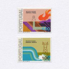Energy (Part of a series of 6) (1.00+4.00). Portugal, 1976. Design: José Luís…