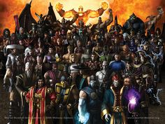 Did you realize that by now all of these characters are in the Mortal Kombat universe? Yeah, me either! But they are, and as a fan I thought I would post this pic to represent all of the M.K. games. I have a few that didn't impress like others, but they are all worth picking up at least once.