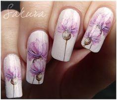 Nail art: Water decals nail art