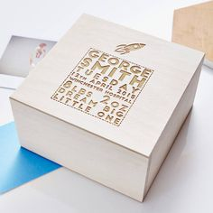 Looking For a Perfect Keepsake Gift? Our Personalised Space Wooden Baby Keepsake Box from Sophia Victoria Joy may just be what you are looking for Wooden Keepsake Box, Baby Keepsake, Keepsake Boxes, Non Toy Gifts, New Baby Gifts, Personalised Christening Gifts, Baptism Gifts, Baby Messages, Baby Christening