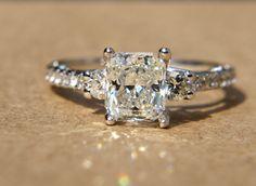 172 carats  RADIANT cut Diamond Engagement Ring  by BeautifulPetra, $7500.00  OH. MUH. GAWD. <3