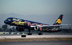 """American Trans Air 25th Anniversary """"Party"""" colors Civil Aviation, Aviation Art, Airplane Decor, Airplane Mode, Jet Airlines, Fly Around The World, Airline Logo, Plane Design, Airplane Photography"""