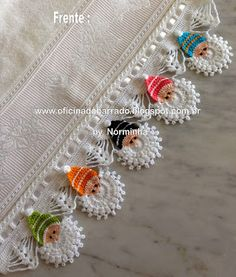 18 Ideas For Crochet Shawl Edging Link Crochet Borders, Crochet Motif, Crochet Doilies, Crochet Flowers, Free Crochet, Crochet Shawl, Thread Crochet, Crochet Yarn, Crochet Stitches