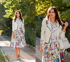 Get this look: http://lb.nu/look/7545242  More looks by Viktoriya Sener: http://lb.nu/viktoriyasener  Items in this look:  Sheinside Blouse, Sheinside Skirt, Mango Sandals, Bb Dakota Jacket, Rebecca Minkoff Bag   #artistic #classic #vintage