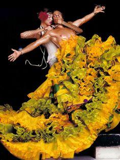 'An Haute Couture Fantasy', Linda Evangelista by Jean-Paul Goude, Harper's Bazaar December 2003.  Christian Dior Fall Winter 2003 Haute Couture