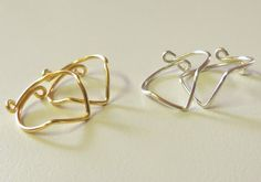 Knuckle Ring Set of 2 Chevron Above the by DurangoDreamDesigns