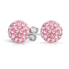 Bling Jewelry Pink Princess Studs ($9.99) ❤ liked on Polyvore featuring jewelry, earrings, accessories, studs, pink, stud-earrings, fake stud earrings, earrings jewelry, stud earrings and pink jewelry
