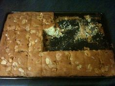 Almond and cherry tray bake for when you are on the run.