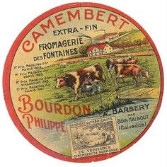 Antique Camembert Cheese Label