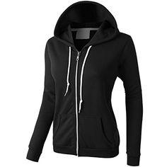 PREMIUM Womens Lightweight Vintage Zip Up Sweatshirt Hoodie<<that's a lot of money for a simple black jacket. Red Hoodie, Fleece Hoodie, Zip Up Hoodies, Hoodie Sweatshirts, Black Zip Ups, Sweater Jacket, Zip Up Sweater, Vintage Shirts, Clothes