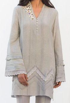 Shirts Kurti Sleeves Design, Kurta Neck Design, Sleeves Designs For Dresses, Dress Neck Designs, Blouse Designs, Stylish Dresses For Girls, Stylish Dress Designs, Pakistani Dresses Casual, Pakistani Dress Design