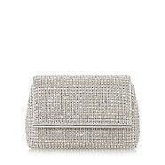Add a sparkly finish to your formal ensemble with the Everlina clutch bag. Adorned with diamante embellishments and a Dune branded metal bar. This spacious style features two inside compartments and a shoulder strap.