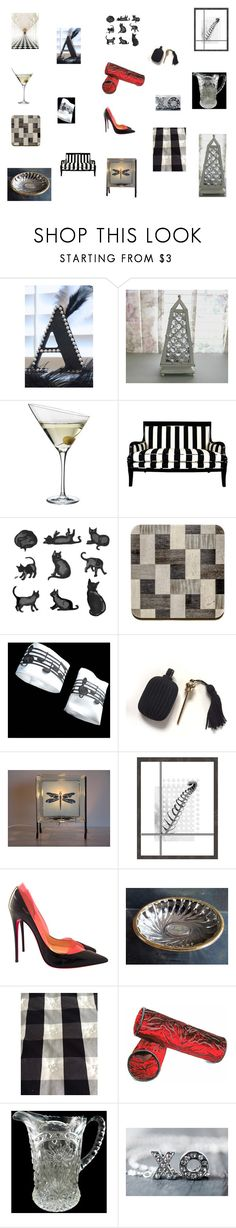 Art deco inspired home decor by einder on Polyvore featuring interior, interiors, interior design, hogar, home decor, interior decorating, Eva Solo, Christian Louboutin, xO Design and Oxford