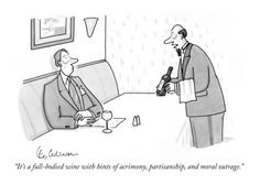 New Yorker Magazine Wine Cartoon.
