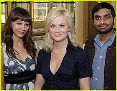 From left: Ann, Leslie, Tom! (Rashida Jones, Amy Poehler, Aziz Ansari) I love them all!