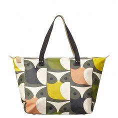 9a0fc783d954 Search results for   orla-kiely bags orla-kiely-big-owl-zip-shopper-multi