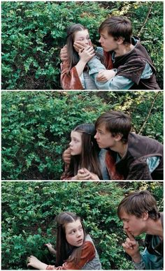 Peter & Lucy in Prince Caspian <<< I love the way that Peter puts his arm around Lucy. He's the perfect older brother