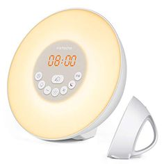 instecho Sunrise Alarm Clock, Digital Clock, Wake Up Light with 6 Nature Sounds, FM Radio and Touch Control (White) … Bedside Reading Lamps, Bedside Lighting, Bedside Lamp, Mood Light, Night Light, Wall Jack, Sunrise Alarm Clock, Clock For Kids, Nature Sounds