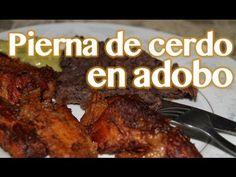 PIERNA DE CERDO EN ADOBO - al estilo de la abuela Oti - YouTube Mexican Food Recipes, Dessert Recipes, Desserts, Comida Latina, Chipotle, Allrecipes, Pork, Menu, Chicken