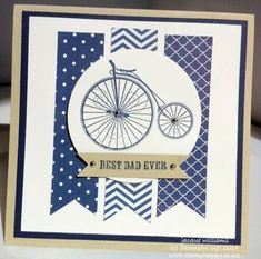 Stampin up masculine father's day night of navy Timeless Talk