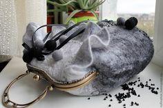 Купить Сумка валяная. Первые заморозки. Изморозь - женская сумка, оригинальная сумка, авторская сумка