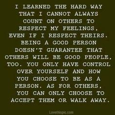Accept them or walk away.....